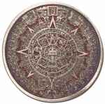 Aztec Calendar + display stand. Code GD2
